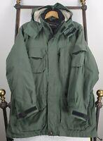 OBERMEYER Size Medium Mens Backcountry Hooded Winter Ski Jacket Coat Parka Green