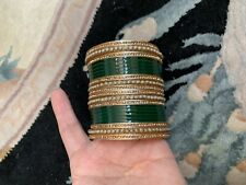 Indian Bollywood 22pcs Fashion Colored Bangles Set Bridal Jewelry Size 2.6, 2.8
