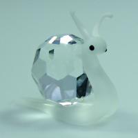 Glasfigur Schnecke - klarer Kristall mit Swarovski Elemente tschechisch Produkt