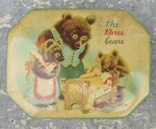 Ancienne boite cote d'or The three Bears en tole lithographiée
