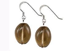 FUMOSO quarzo ovale pendente argento sterling 18X14 mm orecchini