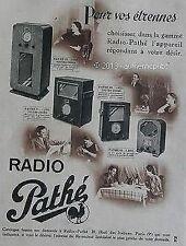 PUBLICITE RADIO PATHE PHONO POSTES POUR VOS ETRENNES ART DECO DE 1935 FRENCH AD