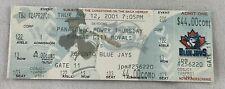 MLB 2001 04/12 Kansas City Royals at Toronto Blue Jays at FULL Ticket