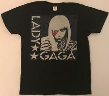 LADY GAGA Size Large Black T-Shirt