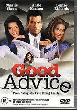 GOOD ADVICE - DVD R4 Charlie Sheen Angie Harmon LIKE NEW FREE POST