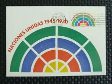 MEXICO MK 1970 UN UNO ONU MAXIMUMKARTE CARTE MAXIMUM CARD MC CM c5020