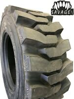 4 New Tire 14 17.5 Savage Heavy Duty Skid Steer 14Ply DeepTread 50/32 14x17.5 FS