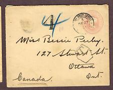 SOUTH AFRICA TO CANADA OTTAWA POSTAGE DUE ARMY  BOER WAR ERA   (MYR18