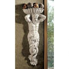 Design Toscano Atlantes God Of The Sea Heavyweight Stone Finish Wall Sculpture