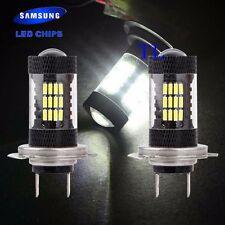 H7 Samsung Chip LED 57 SMD Super White 6000K Headlight 2x Light Bulb Low Beam