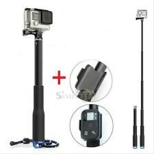 "37"" Selfie Stick Extendable Monopod Tripod Pole w/ Wifi Holder for GoPro4 3+3"