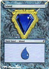 Ile altérée - Altered Lorwyn Island - Mox Sapphire - Michael Newton - Magic mtg