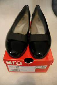 100/10 ARA Damen Schuhe Pumps Gr.41,5 / 7,5 schwarz Lackleder Absatz 5 cm W H