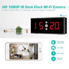 Wi-fi Hd 1080P ir Reloj de mesa con cámara de visión nocturna de detección de movimiento