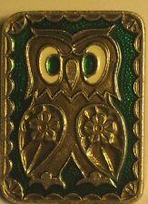 Russian CARTOON HERO Pin Buttons Badge Owl Kid Bird Metal Children Zoo Green Old