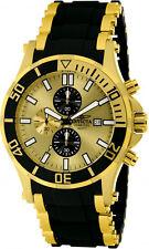 Invicta Men Sea Spider Chrono Gold Tone Stainless Steel Polyurethane Watch 1478