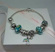 Genuine Pandora bracelet, Pandora charms and clasp with European style charms
