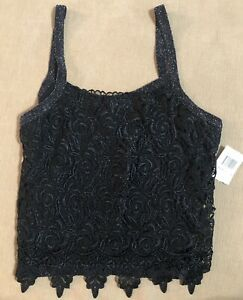 Top String Strap Cami Lacy Sparkle Holiday New Years PoshMark Awesome Wear Large