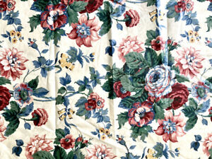 Waverly Home Decor Chintz Cotton Fabric Peace Rose Collection Scotchgard BTY