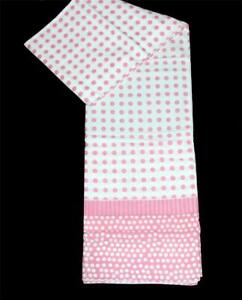 """Frolics Pink & White Polka Dots Cotton 72"""" x 72"""" Fabric Shower Curtain DISC"""