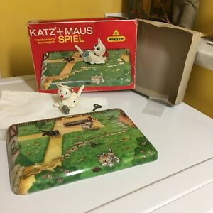 KOHLER VINTAGE MECHANICAL CAT PLAYING WITH MOUSE WITH BOX AND IS FULLY WORKING!!