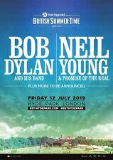 BOB DYLAN/NEIL YOUNG 2019 LONDON U.K. CONCERT TOUR POSTER-2 Classic Rock Legends