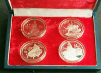 "1985, China. Silver 5 Yuan Coins ""Historical Legal Tender Program"" w. Box & COA!"
