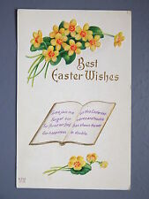 R&L Postcard: Art Design, Easter Flowers Embossed Design