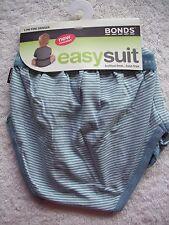 Baby Boy's Bonds Blue Striped Long Sleeve Easysuit/bodysuit Size 00