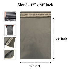 20 Grey Mailing Mailer Packaging Plastic Bags Large Size 17' x 24' QUICK POSTAGE