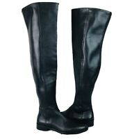 Vince Camuto Hailie Over The Knee Black Leather Boot Women's Size 6.5 M ~ NWOB