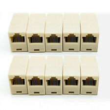 10Pcs Network Ethernet Lan Cable Joiner Coupler Plugs Connector RJ45 8Pins