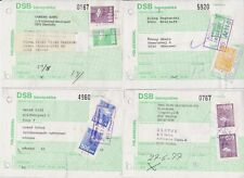 Denmark - Dsb Banepakke - Danish Railway Packet/Parcel Forms With Stamps (4)7