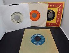 Lot of 4 Vintage records 45RPM Hank Marr - Duane Eddy - Jimmy Durante - Mineo  E