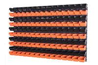 156 teiliges SET Lagersichtboxenwand Stapelboxen mit Montagewand Werkzeugwand