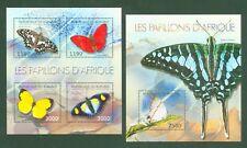 Burundi 2012 - Schmetterlinge - Papillons Butterflies Borboletas Lepidoptera **