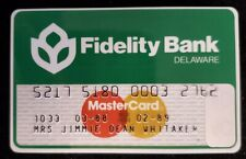 Fidelity Bank Delaware MasterCard credit card exp 1989♡Free Shipping♡cc638♡