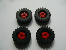 Lego 4 roues rouge set 9453 / 4 red wheels