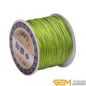 0.8mm Chinese Knot Nylon Cord Shamballa Macrame Beading String Sewing 120 Meters