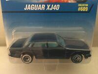 Hot Wheels JAGUAR XJ40 - 1997 #609 - Blue, Lace Wheels - CHINA - CORGI Casting