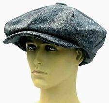 Peaky Blinders Oversized Hat Newsboy Big Apple Gatsby Cap Flat Baker Boy Grey