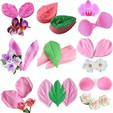3D Rose Petal Flower Silicone Veiner Mold Fondant Cake Clay Chocolate Icing Tool