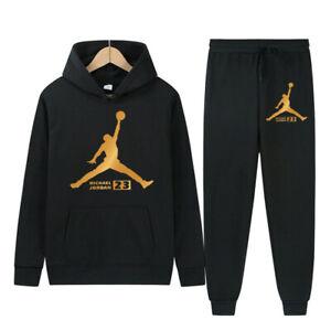 New Hot Men Michael Air 23 Legend Jordan Tracksuit  Hoodie Active Wear Sport Set