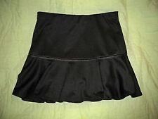 Beautees*Girls Black Skorts*Size Large*Elastic waist*Fau Leather Trim*Concert