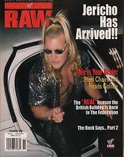 WWF Raw Magazine November 1999 Chris Jericho, The Rock  EX 011316DBE