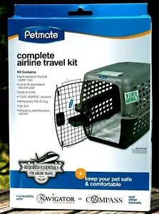 PETMATE DOG or CAT AIRPLANE TRAVEL KIT COMPLETE for NAVIGATOR or COMPASS NEW