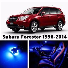 9pcs LED Blue Light Interior Package Kit for Subaru Forester 1998-2016