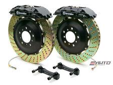 Brembo Rear GT BBK Brake 4pot Caliper Black 380x32 Slot Rotor Hummer H2 08-09