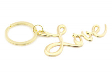 Love Keychain Gold Novelty Key Chains Womens Keyring Fashion Jewelry Accessories