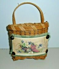 New ListingWall Hanging Wicker Basket Victorian Home Decoration
